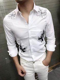 #MensT-shirts Mens Designer Shirts, Designer Suits For Men, Mens Traditional Wear, Tailored Fashion, Big Men Fashion, Shirt Embroidery, Plain Shirts, Mens Suits, Casual Shirts