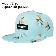 New Fruit pattern Snapback Adult & Kids Fashion Caps Children Baseball Hats For Boys Girls Sun Hip Hop Snapback Caps