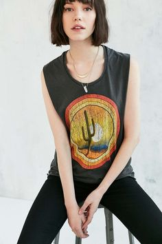 Midnight Rider Cactus Sunset Muscle Tee - Urban Outfitters