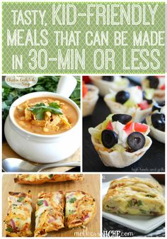 Saving these tasty meals in 30 min or less.  This is my favorite board for super fast meals!