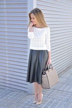Zara Sweater, Choies Skirt, Michael Kors Bag, Jimmy Choo Heels