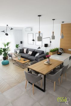 The Best 2019 Interior Design Trends - Interior Design Ideas Studio Kitchen, Studio Room, Living Room Kitchen, Interior Design Living Room Warm, Living Room Designs, Living Room Colors, Living Room Decor, Living Comedor, Apartment Interior