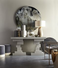 Kelly Hoppen's Retrospective collection for Resource Decor features her signature neutral palette, exuding sophistication and elegance.