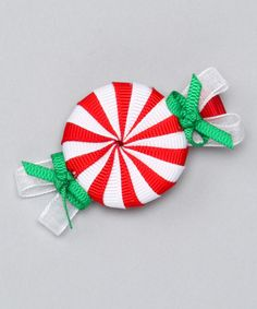 Take a look at this Red Peppermint Candy Clip by Candy Cane Lane: Girls' Apparel on @zulily today!