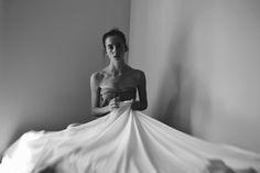 Bed, Sheets, Dramatic, Photography, Girl, Dress, Shadows, DTPhotography