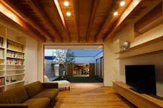 リビング: 窪江建築設計事務所が手掛けたリビングです。 Hamamatsu, Casa Patio, Forest Cabin, Interior Architecture, Interior Design, Pretty Room, Pergola, Home And Garden, Outdoor Structures