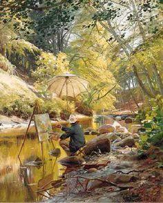 by Peder Mork Monsted (Danish 1859-1941)