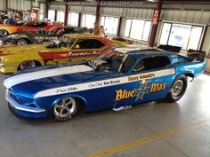 We love vintage Funny Cars, like the Blue Max #Mustang flopper