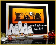 brayered background Halloween card - DRS Designs images