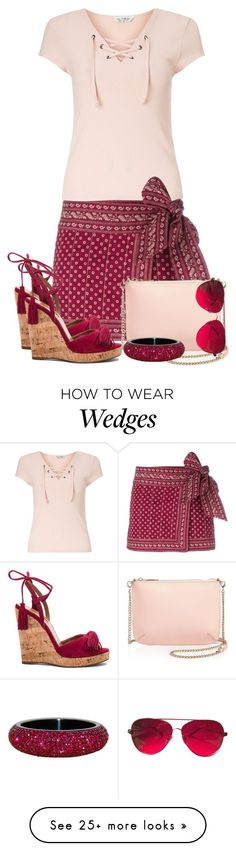 """""""Untitled #2454"""" by jodilambdin on Polyvore featuring Miss Selfridge, Étoile Isabel Marant, Ted Baker, Aquazzura and Valentino"""