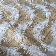 Black White Feather flower embroidered lace fabric milk silk lace african swiss…