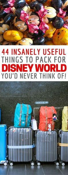 I've never seen a Disney packing list like this one before - so many clever travel hacks!