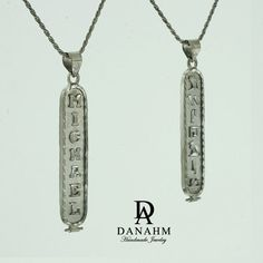 Egyptian Nameplate Necklace  Black Silver Plated  Silver  Personalized Name in English & Hieroglyphic Letters  Flat Round  #CR005D    For Details Visit:  https://www.etsy.com/listing/228734756 - By @Danahm1975    #Jewelry #Etsy #Danahm1975 #Silver #HandMade #Fashion #Accessories #MenStyle #WomenStyle #Necklace #Cartouche #RopeChain #CartoucheJewelry #CartoucheNecklace #Hieroglyphs #EgyptianCartouche #Egyptian #Arabic #ArabicJewelry #ArabicNameplate #ArabicNecklace #NameplateNecklace