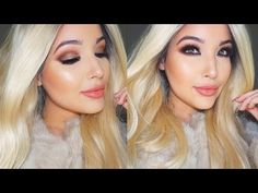 Bronze & Peach Makeup Tutorial Using All New Products! - YouTube