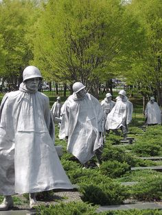 Korean War Veterans Memorial.  Washington, District of Columbia
