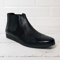 $150 - HELM - Donny Boot in Black [Fabricated and cobbled by hand in Turkey!]