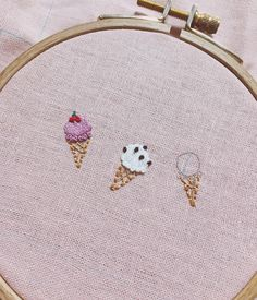 Banana Split Embroidered//Metallic Iron On Applique Patch Ice Cream