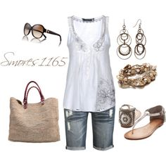 """""""Summertime Neutrals"""" by smores1165 on Polyvore"""