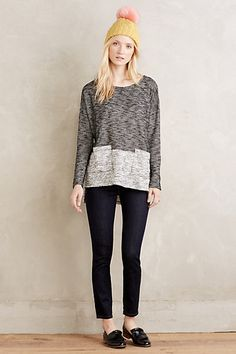 Tonal Terry Pullover #anthropologie