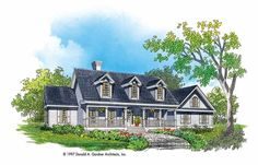 Farmhouse House Plan with 2349 Square Feet and 4 Bedrooms from Dream Home Source   House Plan Code DHSW04388