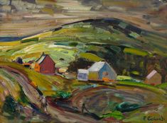 Rene Richard - Paysage de Charlevoix 18 x 24 Oil on board Canadian Painters, Objet D'art, Sculpture, Oil, Board, Painting, Pottery, Landscapes, Objects