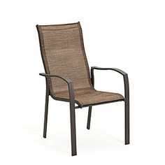 $24 Sling Chairs Stackable for convenient storage SKU(s): 810213603, 810213604 In Store Only Seasonal Inventory