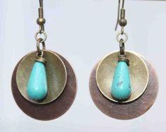 Copper Earrings Dangle Earrings Copper Jewelry Boho