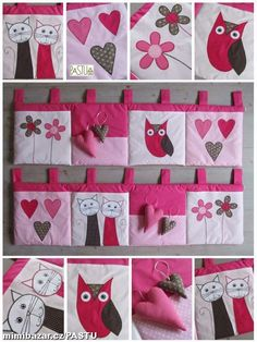 Kapsáře z mé tvorby na přání Baby Girl Quilts, Girls Quilts, Baby Room, Sewing Crafts, Diy And Crafts, Upcycle, Kids Room, Applique, Gift Wrapping