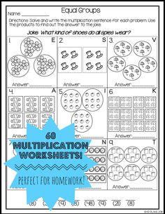 Multiplication Worksheets No Prep Printables Math Activities