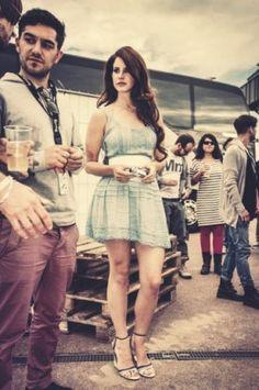 Get a vintage-inspired dress like Lana Del Rey.