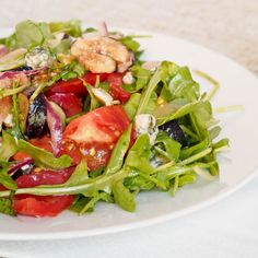 Simple tomato, fig and blue cheese #salad, perfect for #lunch #glutenfree