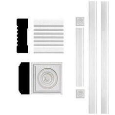 Door Trim Kits - $16.98 - upstairs doors? All doors? Only 7 total if you did all....3/4 in. x 2-1/4 in. x 8 ft. MDF Fluted Door Casing Set