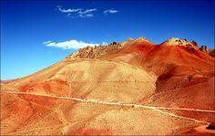 Bamyan, red mountains