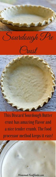 Sourdough Pie Crust is a tender crust with a bit of tangy flavor. Use up your discard starter and create wonderful pies! #piecrusts #sourdoughpiecrust #sourdoughrecipe #sourdoughstarter #sourdoughdiscardrecipe