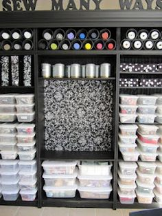 this woman is the queen of crafty, super cheap, easy, brilliant organization ideas. (Sew Many Ways)