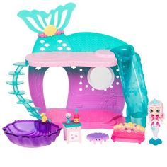 Shopkins Happy Places Mermaid Reef Retreat Playset with 'Lil Shoppie Mermaid & Surprise Petkin Baby Girl Toys, Toys For Girls, Kids Toys, Barbie Ballet, Shoppies Dolls, Shopkins Happy Places, Mermaid Toys, Mermaid Tails For Kids, Barbie Sisters