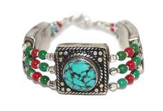 Turquoise Bracelet Boho Bracelet Handmade Bracelet