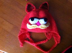 Garfield Style hat crochet pattern for ages 0 to by TinyWeeTinks, £3.22