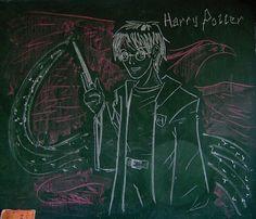 chalkboard art harry potter