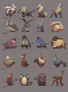 Les tronches des animaux ( formes simples)