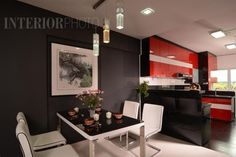 13 SMALL Homes so beautiful you won't believe they're HDB flats Interior Design Singapore, White Brick Walls, Living Room Kitchen, Living Rooms, Apartment Interior, Design Firms, Dining Area, Contemporary, Modern