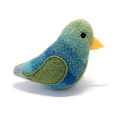 Upcycled sweater bird toy
