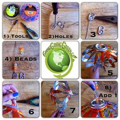 How to Recycle: Wind Spinner Cans Christmas Ornaments