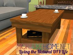 More Like Home: Day 13 - Build a Chunky Coffee Table