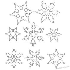 15 Snowflake Stencil, Snowflake Pattern, Snowflake Designs, Easy Snowflake, Craftwork Cards, Christmas Snowflakes, Christmas Cookies, Christmas Ornaments, Diy Ornaments