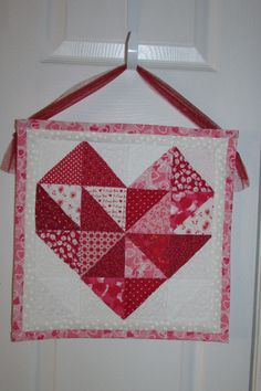 Valentine quilted wall-hanging I made