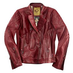 Roland Sands Lederjacke Clash-Oxblood