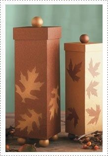 Autumn Elegance Boxes #Krylon #Craft #Fall