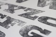 The dirty letter of letterpress always excites me.!! (Matt Griffin and Matt Braun of Pittburgh design studio, Bearded, are on a mission to revive rare wood cut fonts for the digital age.)