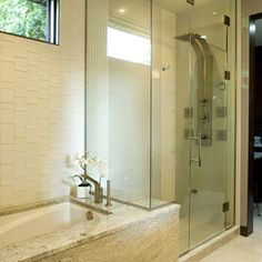 Separate Shower And Bath Design Ideas Pictures Remodel And Decor
